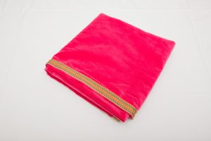 "Out of Stock - Bridge Cloth - Fuchsia Pink velvet with braid (1.07m/42"" square - £70)"