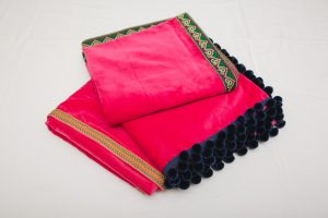 "Bridge Cloths - Fuchsia Pink velvet (1.07m/42"" square - £70)"
