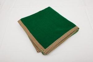 "Out of Stock - Bridge Cloth - Forest Green velvet with braid (1.07m/42"" square - £65)"