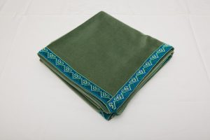 "Bridge Cloth - Sage Green velvet with braid (1.07m/42"" square £70)"