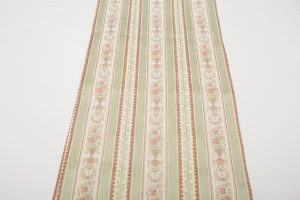 Table Runner - Green stripe/pink flowers (2.72m x 32.5cm - £25)