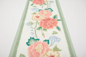 Table Runner - Large flowers with green border (2.88m x 31.5cm - £35)