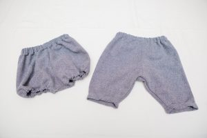 Trousers/Bloomers - Tweed (blue/white herringbone wool mix) (6 months to 2 years £20-£25)