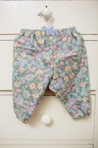 Trousers - Liberty jubilee (wool/cotton) grey floral (3 months - 2 years £15)