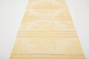 Table Runner - Gold Damask with faded stripes (3.08m x 33cm - £30)