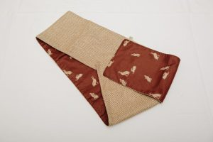 Out of Stock - Scarf - Cashmere herrinbone tweed lined with brown hares (14x117cm £30)
