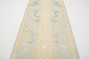 Table Runner - Cream/Blue Damask (2.74m x 36cm - £30)