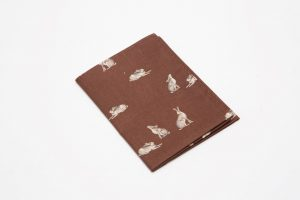 Handkerchief - Cotton lawn Hares brown (45cm/30cm square - large £9/medium £6)