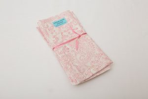 Napkins - Pink/white paisley (41.5cm square - £5.50 each/£22 for 4/£42 for 8/£60 for 12))