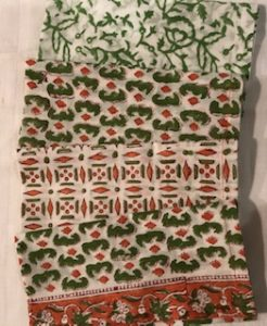 "100% Cotton Napkins - green and orange mix and match (43cm/17"" square) - £22 for 4"