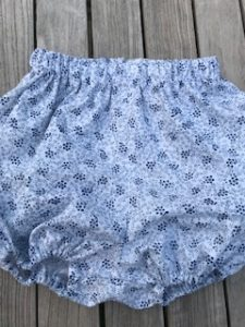 Navy and white cotton bloomers - size S (approx 3-6 mths) - £20