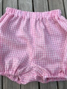 Bloomers pink and white cotton gingham - size S (approx 3-6mths) - £20