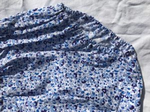 Blue floral fabric detail