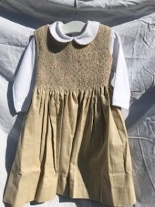 Alexandra Pinafore and white cotton shirt