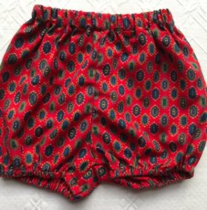Winter Bloomers Red and navy pattern